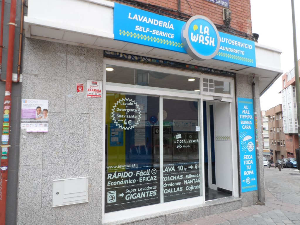 The self-service laundries in Madrid
