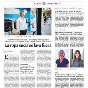 Entrevista en La Vanguardia sobre la expansión mundial de La Wash